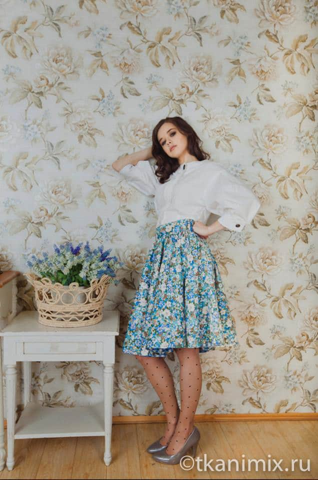 Фото юбки из поплина