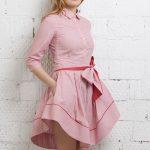 Сорочечная ткань - платье